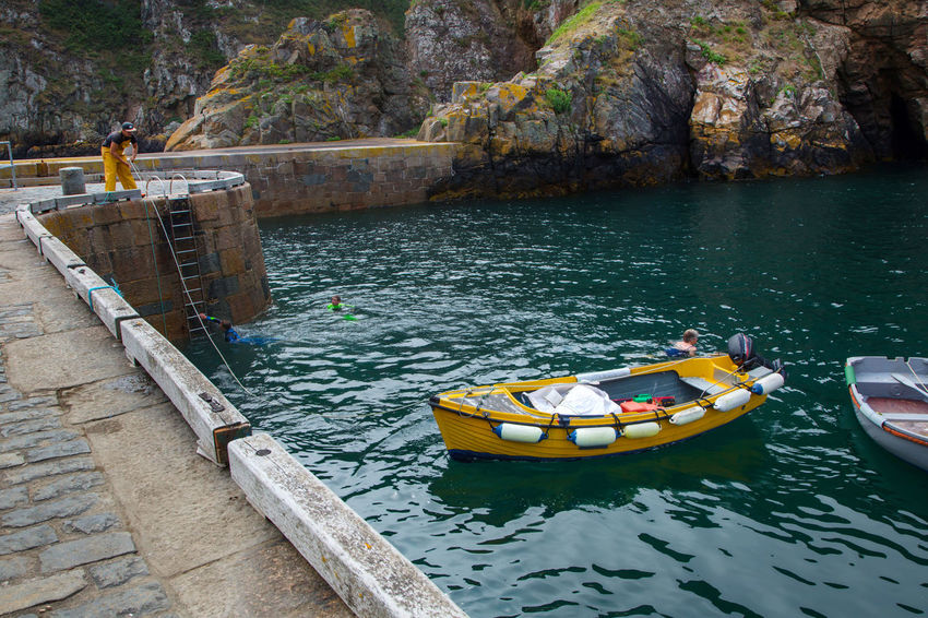 English Channel Isle Of Sark Beauty In Nature Day Island Lake Nature Nautical Vessel No People Outdoors Sark Tree Water