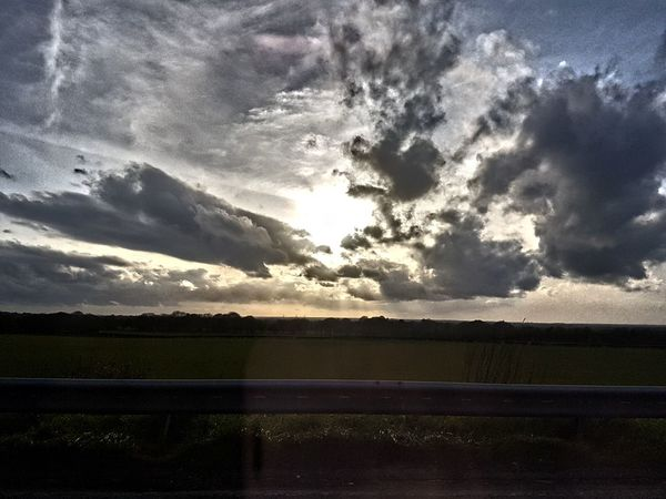 Moody Sky Dramatic Sky Weather Sunset Rural Scene Cloud - Sky Nature Scenics Landscape Sunlight Outdoors No People Beauty In Nature Contrast Low Angle View Power In Nature Moody Sky Atmospheric Mood Storm Cloud