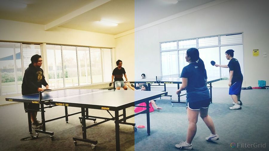 Having our own Australian Open (Table Tennis version) Tabletennis GymTime Workouts Withfriends Exercise Getting In Shape Newlife Icandothis Behappy Fistpump
