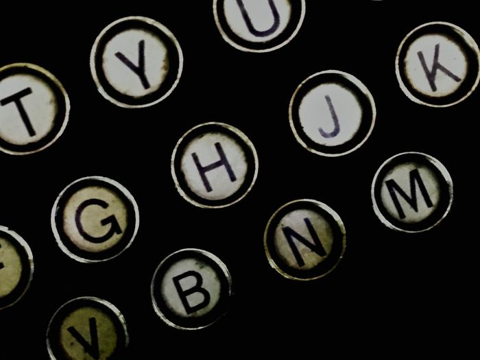 Qwerty Alphabet Backgrounds Close-up Communication Computer Key Day Indoors  No People Old-fashioned Qwerty Keyboard Qwerty Old-fashion Keyboard Technology Typewriter