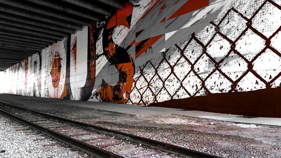 Railroad Track Public Transportation Railroad Station Travel Urban Geometry Urbanphotography Graffiti Graffiti Art Tampa, FL Downtown
