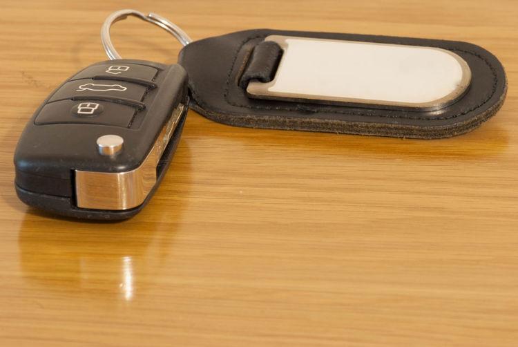 Car keys on a