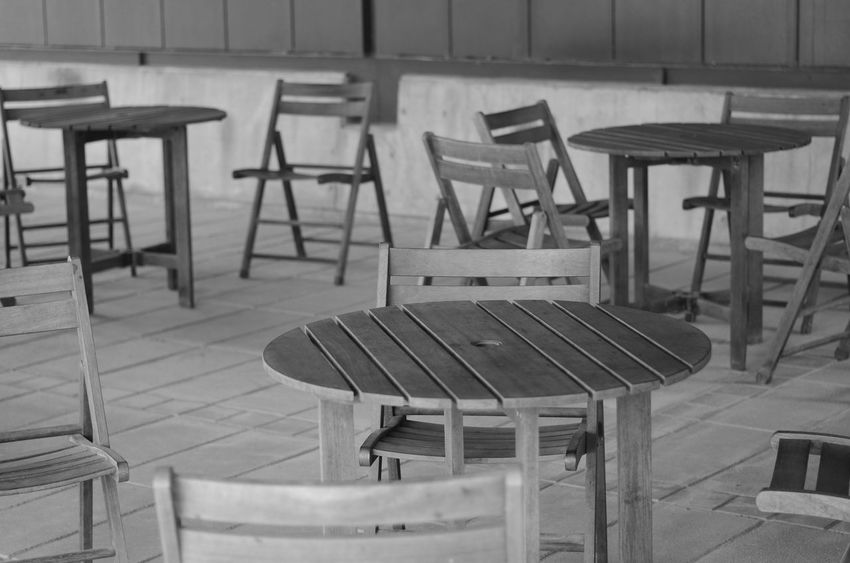 Chair Table Indoors  Empty No People Wood - Material Seat