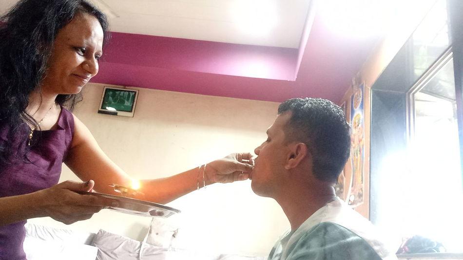 EyeEm Selects Two People People Young Adult Young Women Smiling Bonding Brother & Sister Brother❤ Rakshabandhan Raksha Bandhan Togetherness Sibling Love Siblings SiblingsLove❤ Indian Culture  Indiapictures