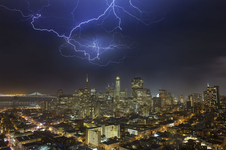 Storm We Architecture Beauty In Nature Building Exterior Built Structure City Cityscape Electricity  Forked Lightning Illuminated Lightning Nature Night No People Outdoors Power In Nature Sky Skyscraper Storm Storm Cloud Thunderstorm Urban Skyline California Dreamin