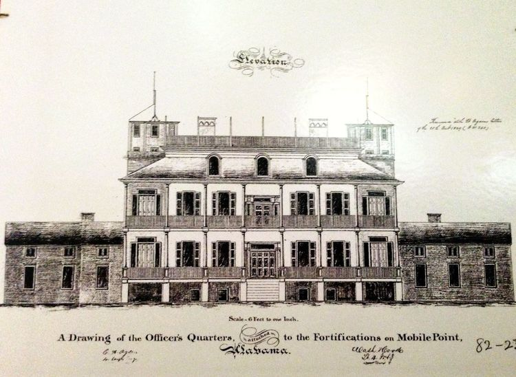 A drawing of the officer's quarters!