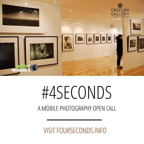The @mobilephotoawards in partnership with Obscura Gallery (Melbourne, Australia) are pleased to announce an open call for entries for artists worldwide to submit photographs created on mobile devices (phone and tablet) for the 4Seconds Exhibition. I'll be one of three judges who will select 25 images to be printed and exhibited at the beautiful Obscura Gallery this November. The photos will be shown alongside the best of the touring Mobile Photo Awards images. There is no set theme, all mobile photo genres and styles will be considered. Our goal is to showcase the best of international mobile photography on real walls, right here in Melbourne, Australia. Full open call details including dates, submission process and fees are available at the fourseconds.info site. Happy to answer any questions about the open call.