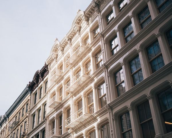Morning light. Architecture Building Exterior Low Angle View Apartment City New York New York City Morning Light Simple Photography Streetphotography Street Photography Architectural Detail Lookingup Windows EyeEm Selects