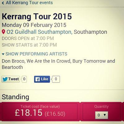 K Tour!!'😄✌💕♡ Ktour KerrangTour2015