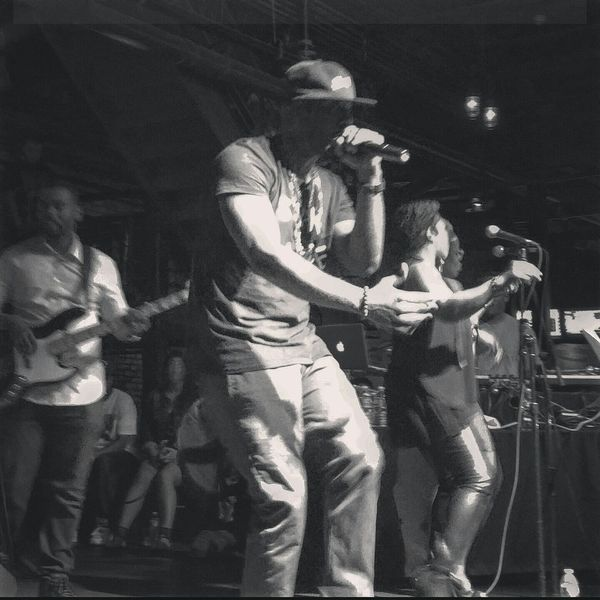Talib kweli with a live band at the brooklyn bowl. Hanging Out Taking Photos Check This Out Smartphonephotography NYC Blackandwhite HipHop Brooklyn Williamsburg, Brooklyn  Brooklynbowl