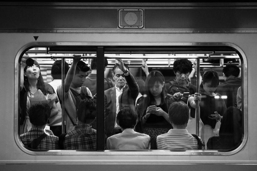 Train-Tokyo, Japan, 2017 Blackandwhite Streetphotography The Street Photographer - 2018 EyeEm Awards