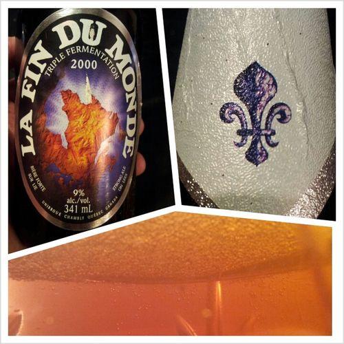 A Défaut De Vivre La Fin Du Monde, Je L'ai Bu Hier Soir ! #beer #biere #unibroue #quebec
