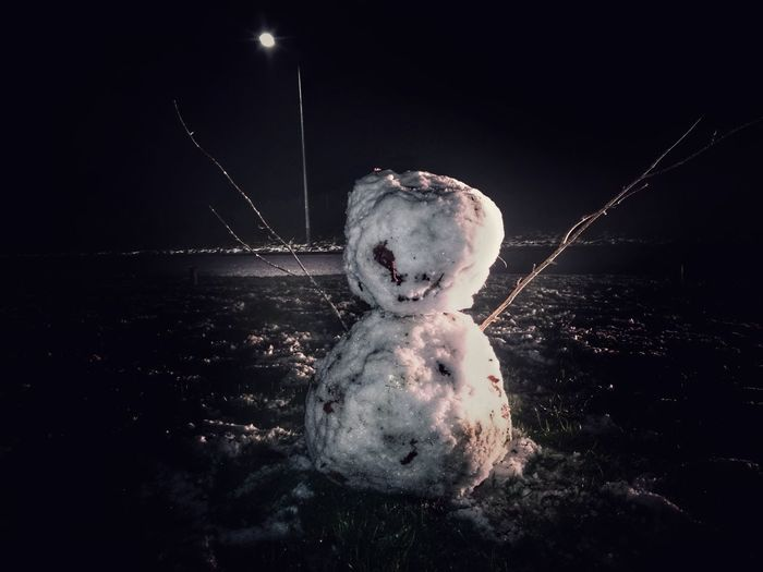 That's one messed up SNOWMAN ⛄ Climate Change Climate Snowman⛄ Snowman Horror Fear The Snowman Horror Evil Snowman Snow Man Snow Oops Darkness And Light Dark Edit Eyeemsnow Fear Twigs Leaf Child Close-up One Person Indoors  People Children Only