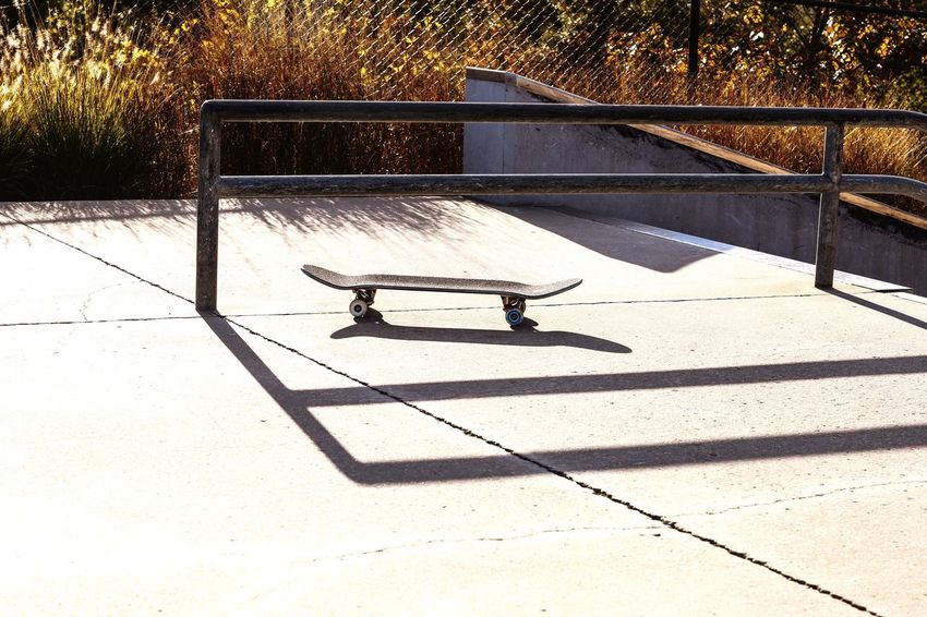 Waiting for my rider... Railing Skate Park Fun Concrete JGLowe Skate Park Skateboard Sunlight Shadow Nature Day No People High Angle View