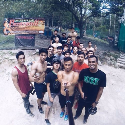 Paintball session with them nigguhss Paintball Vscocam