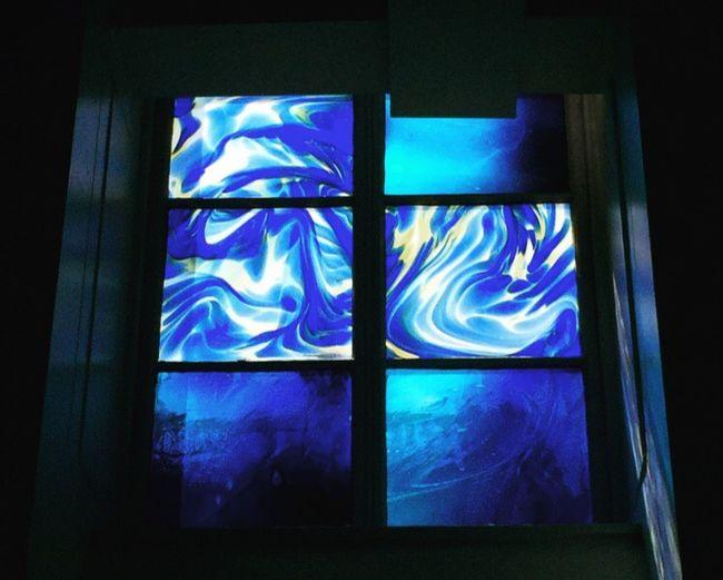 Window Indoors  Blue Low Angle View Drawning Goma Glasgow  Needtotakealittlebreak