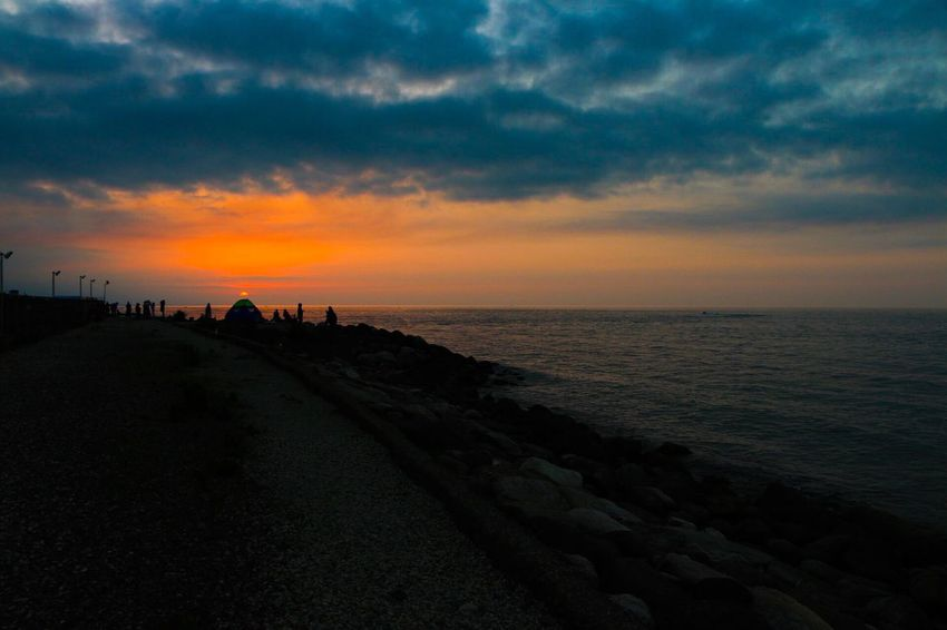 Coucher Sunset Sky Cloud - Sky Nature Horizon Over Water Silhouette Dramatic Sky Tranquility Crépuscule Sea Mazandaran Iran Iran