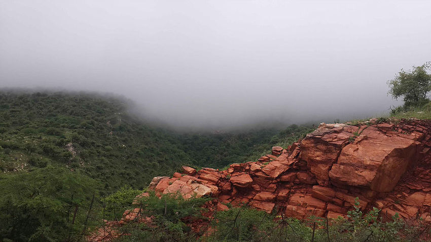 Wet Weather Harsh Mountains Sikar Rajasthan Clouds Beauty In Nature Nature