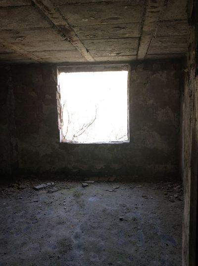 Damaged Indoors  Old Window