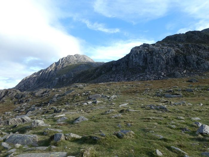 Tryfan Copy Space Landscape_photography Landscape_Collection Tryfan Sky Cloud - Sky Beauty In Nature Tranquility Mountain Tranquil Scene Scenics - Nature No People Rock - Object Landscape Day Nature Remote Idyllic