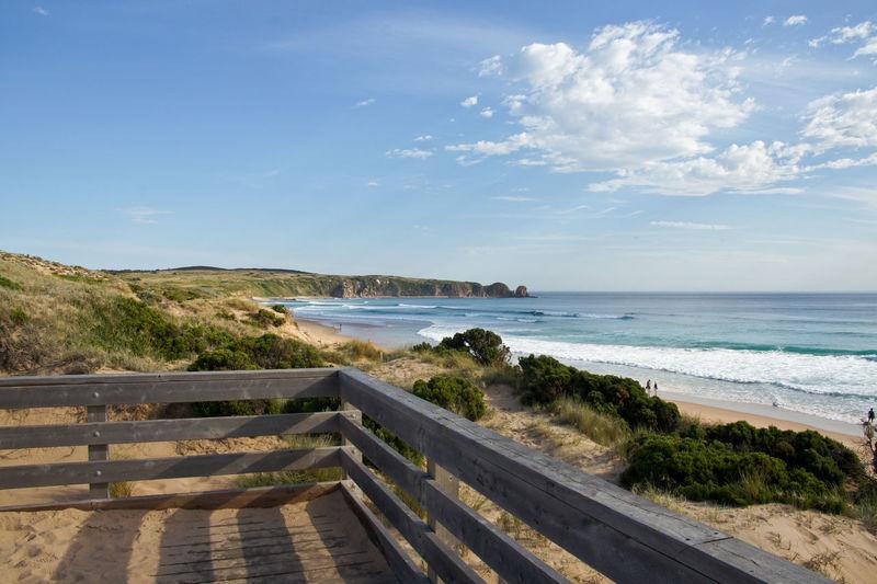 Beach Blue Sky And Clouds Sky Sand Wood Wooden Landscape Philips Island Australian Landscape Australia Summer