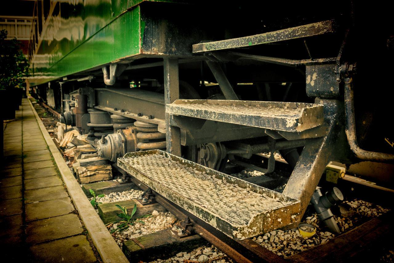 railroad track, rail transportation, transportation, no people, day, outdoors, steam train