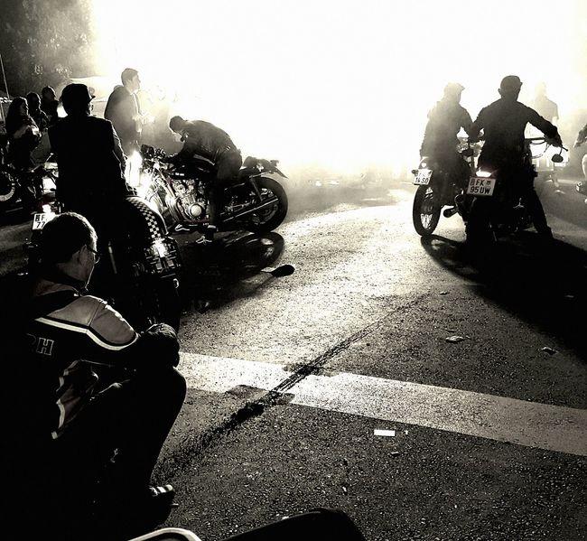 Men People Silhouette Only Men Adult Togetherness Competition Outdoors Motorcycles Motorcycle Glemseck 101- Motorrad- Top- Event Burnout Asphalt Burnout Comp