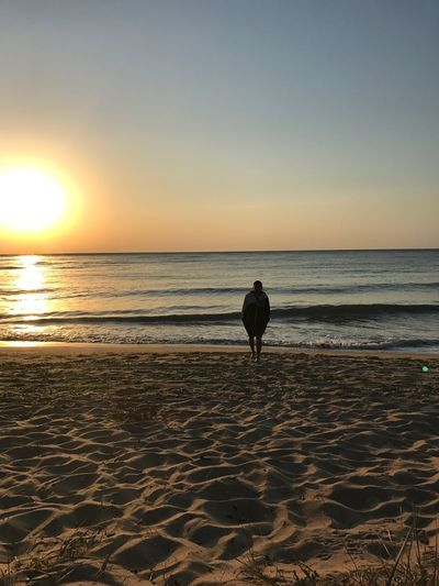 Mix Yourself A Good Time Sea Horizon Over Water Water Beauty In Nature Sky One Person Clear Sky Sunrise 🌄 love ❤️ Lovelovelove Beach Real People Vacations Mix Yourself A Good Time Been There.