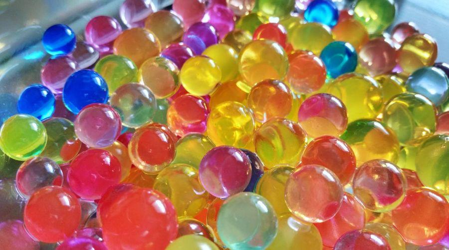 Full frame shot of colorful balls