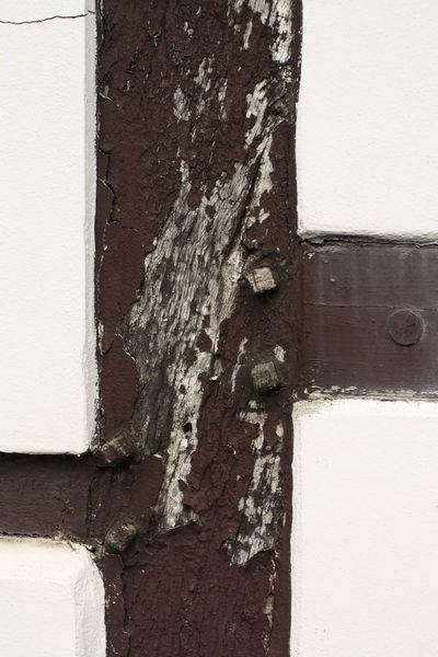White Brown Truss Beams EyeEmNewHere Architecture Backgrounds Building Exterior Built Structure Close-up Day Door Hinge No People Outdoors Textured  Weathered