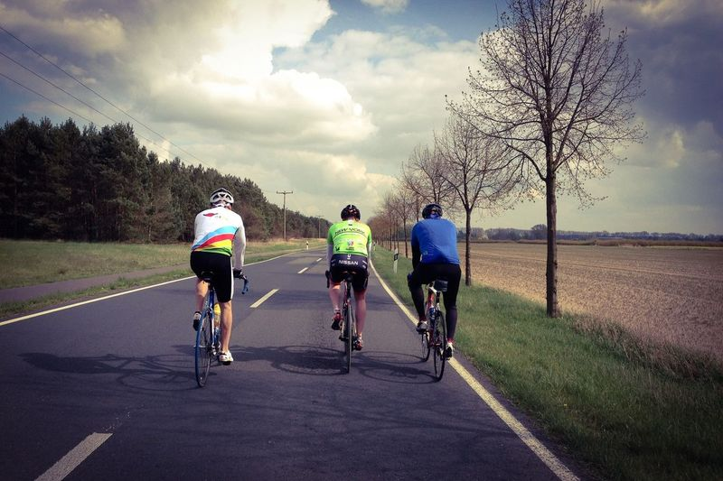 Windy roads in Brandenburg on a Cycling tour