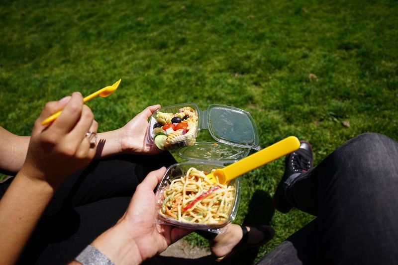Pasta! Salad Pasta Food And Drink Food Holding Human Hand Human Body Part Real People People