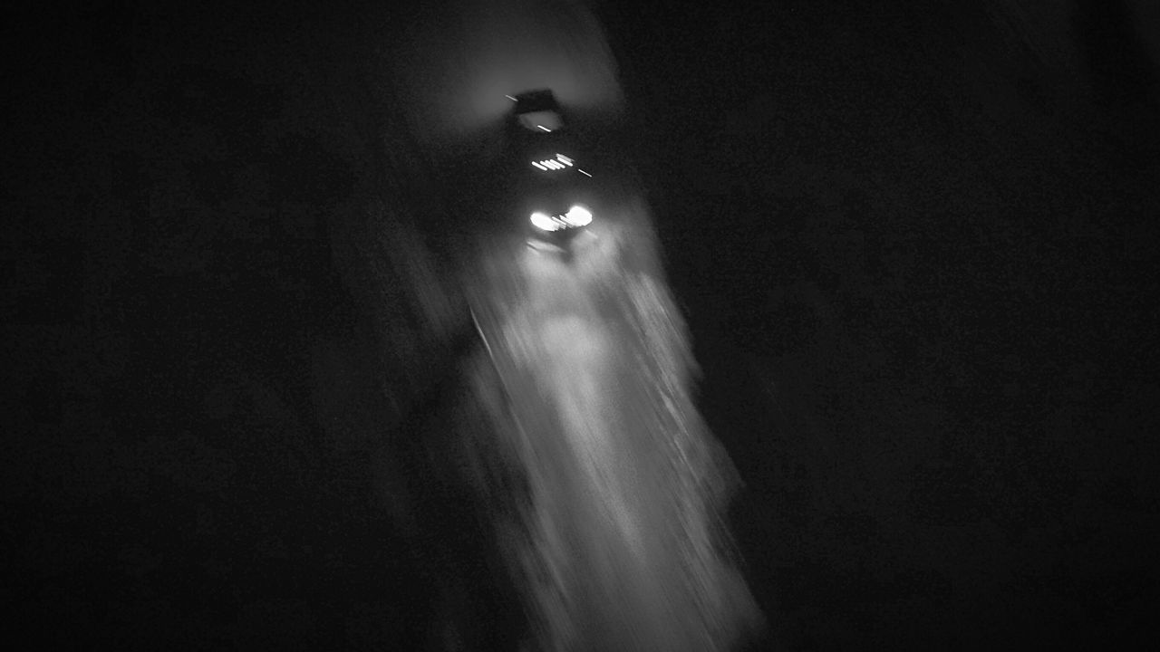 night, motion, long exposure, low angle view, indoors, illuminated, no people, waterfall, nature