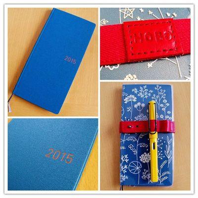 ほぼ日手帳 Note Stationary Weeks Hobonichi 手帳 ブックバンド ほぼ日手帳weeks スモーキーブルー ノートに花をはさんだら ペンホルダー