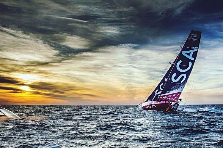 Team SCA all female Volvo Ocean Race sailing crew. TeamSCA Volvooceanrace  Cloudporn Going Sailing Sailing Sailracing