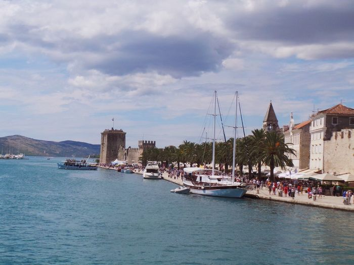 Adriatic Sea Architecture Boat Building Exterior City Cloud Cloud - Sky Cloudscape Croatia Dalmatia Day Harbor Harbor Kamerlengo Mode Of Transport Nautical Vessel Old Town Outdoors Sea Sky Tourism Transportation Trogir Water Waterfront