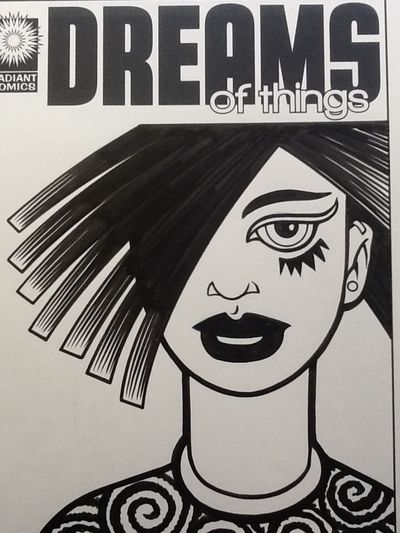 A comic book cover I drew to a comic that doesn't exist. Art Drawing Comic Book Portrait
