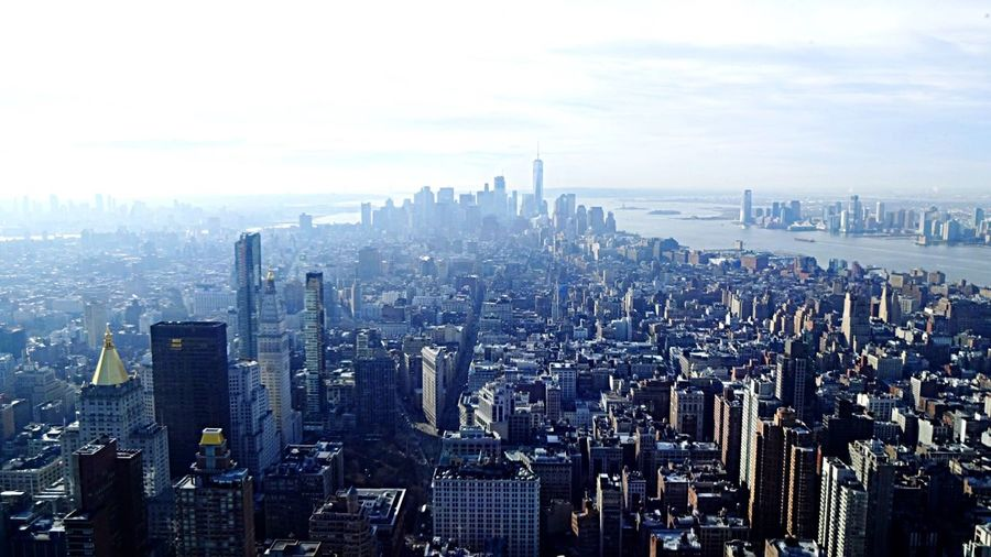 Cityscape City Skyscraper Building Exterior Architecture Urban Skyline Outdoors 5th Ave Newyorkcity Manhattan NYC Street Photography View From Above New York NYC Empire State Building City Uptown No People Travel Destinations Tower Aerial View Sky Built Structure Day Downtown District