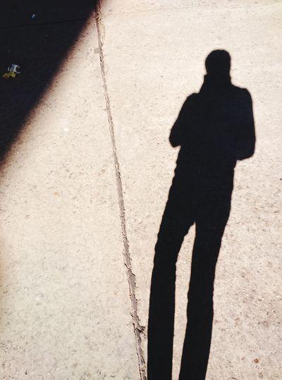 Shadow That's Me Enjoying Life