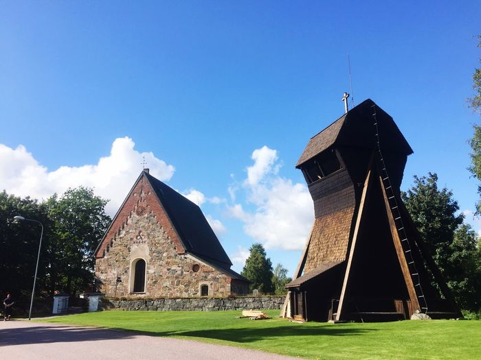 Architecture built structure Church Bell Sweden Torsång Architecture Built Structure Church Day Sky Field Grass Tree No People Barn Outdoors Nature Beauty In Nature