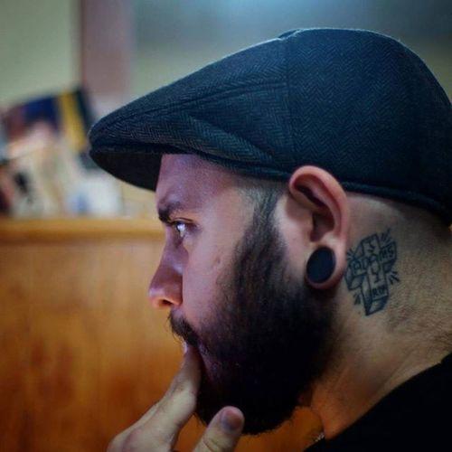 Beardgang Beardedgangsta Hairymotherfucker Sobermafia Inkedboy Stretchedears