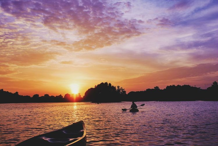 The Color Of Sport Nature Kayakking Summerset Sunset