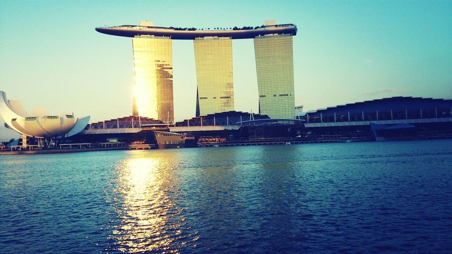 amazing Singapore view. Marinabaysand Perfectbluesky Colorful Singapore