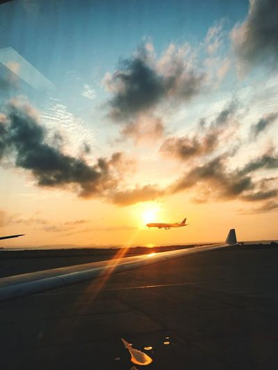 Japan Okinawa Trip Sunset Airplane 오키나와 여행 Let's Go. Together.