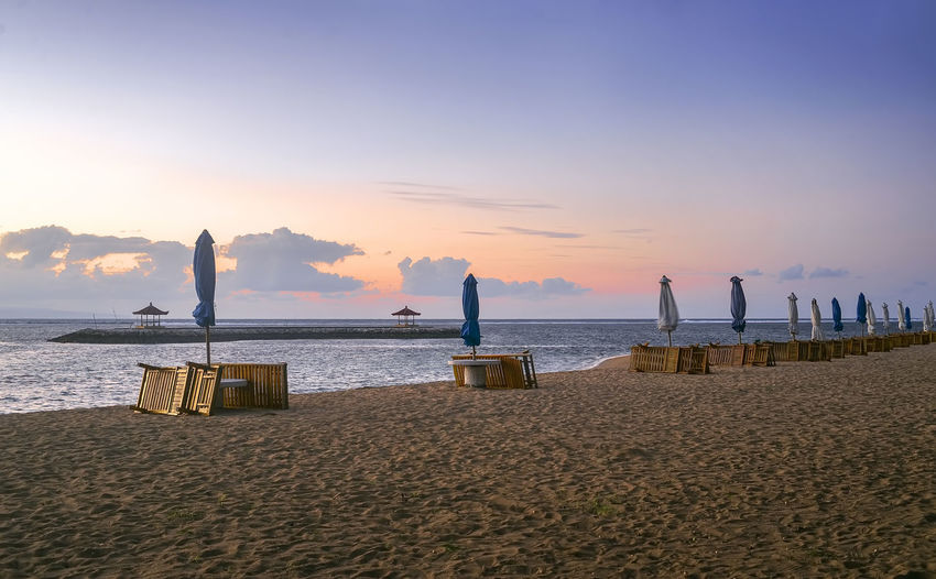 Karang beach Sanur, Bali, Indonesia in the morning ASIA Bali EyeEmNewHere Holiday INDONESIA Beach Beauty In Nature Day Horizon Over Water Lifestyles Men Nature Outdoors People Sand Scenics Sea Shore Sky Sunset Tranquil Scene Tranquility Travel Destinations Vacation Water