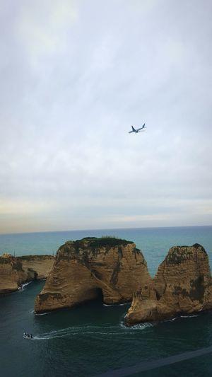 Pigeon Rocks January2016 Mediterranean  Airplane Boat Aviation Aviation Lovers Rocks Sea View