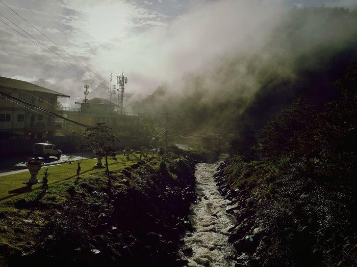 River misty