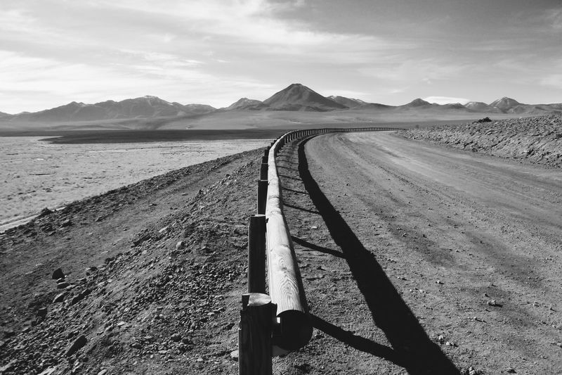 Finding New Frontiers Atacama Desert Chile San Pedro De Atacama Landscape Mountain Sky Black&white Fresh On Eyeem  Fresh on Market 2017 Miles Away The Great Outdoors - 2017 EyeEm Awards