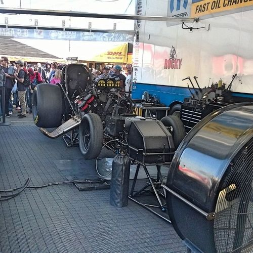 I snapped this right before they fired this baby up! Mann the rush you get when you hear these engines!! Its nothing like it in the world! Teamarmadale Donshumacherracing Winternationals PomonaFairplex Funnycar