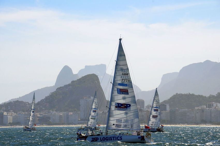 Alexandre Macieira Barco Brasil Brazil Capital Cities  City Copacabana Famous Place Mode Of Transport Nature Nautical Vessel Ocean Pedra Da Gávea Regata Regatta Rio Rio De Janeiro Sailboat Sailing Ship Ships Tourism Travel Destinations Water